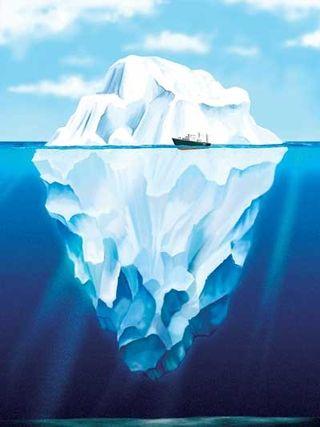 Iceberg-underwater